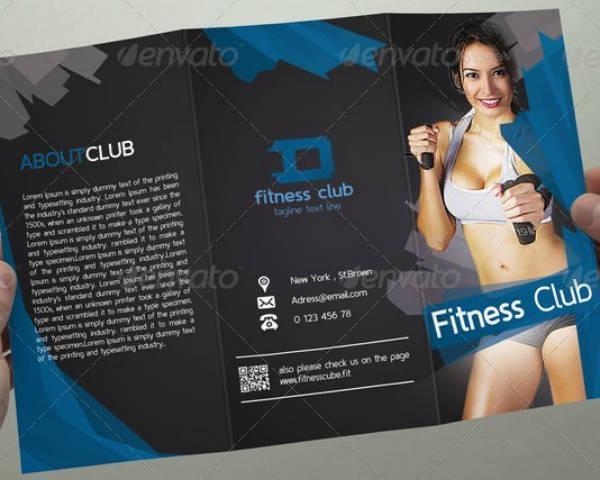 fitness club tri fold brochure design