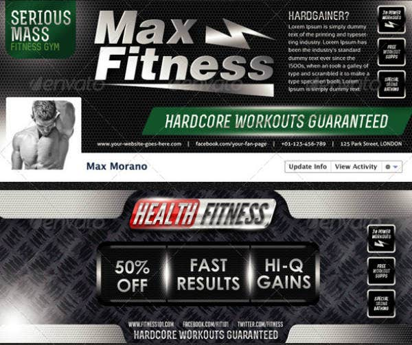 Fitness Gym Cover Template