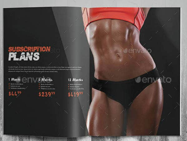 Fitness Subscription Plan Brochure Sample