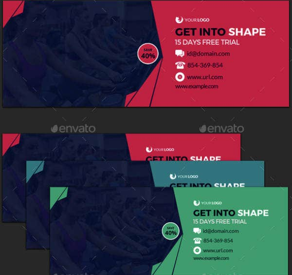 flat gym cover template