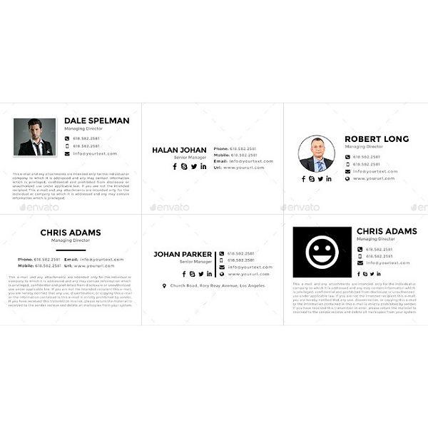 flat-managing-director-email-signature-template