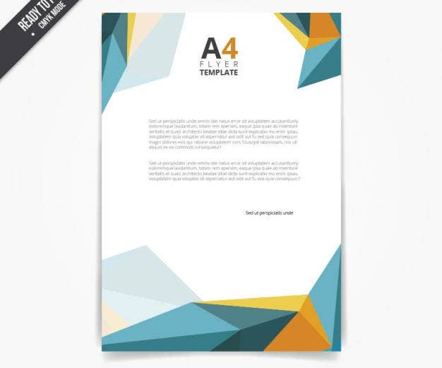 flyer-template-in-polygonal-style
