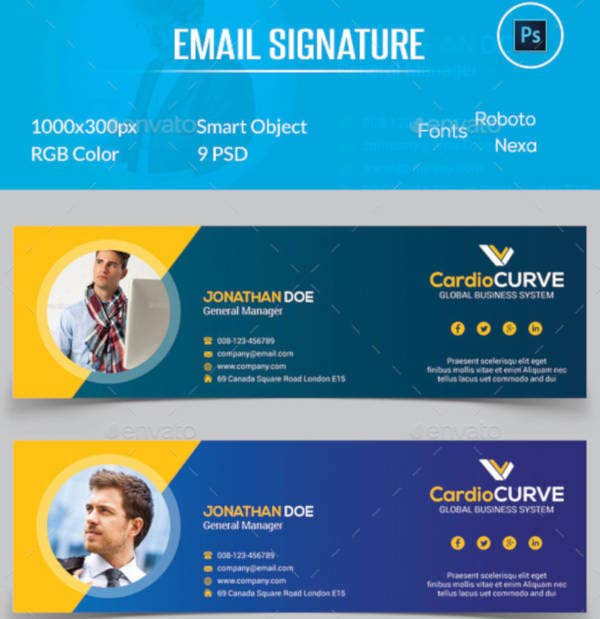 global standard email signature template