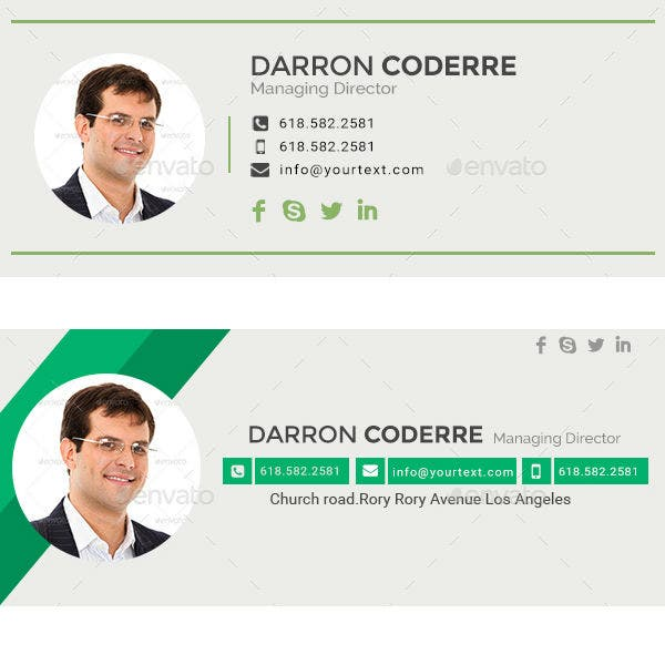 green-managing-director-email-signature-template
