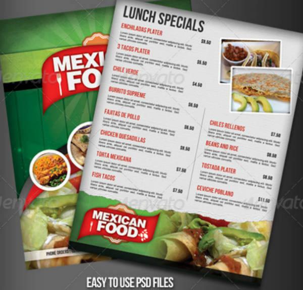 Green Mexican Restaurant Menu