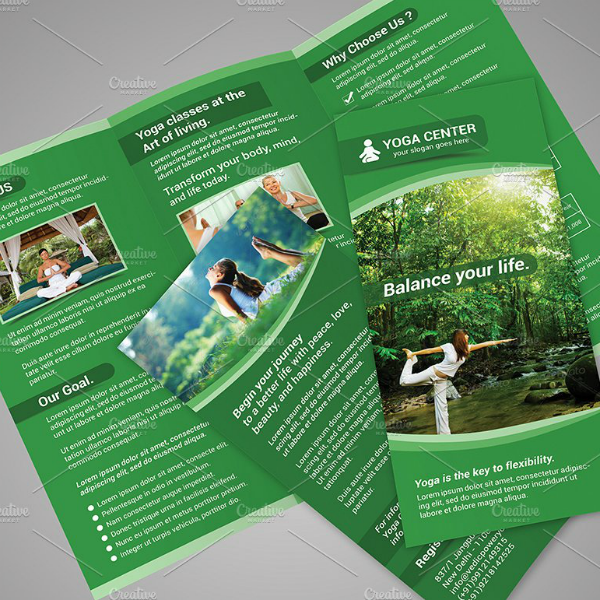 Green Yoga Fitness Brochure Template