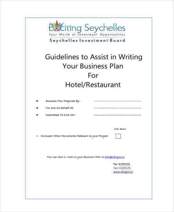Guideline for Hotel-Restaurant Investment