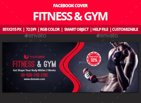 Gym Facebook Cover Design