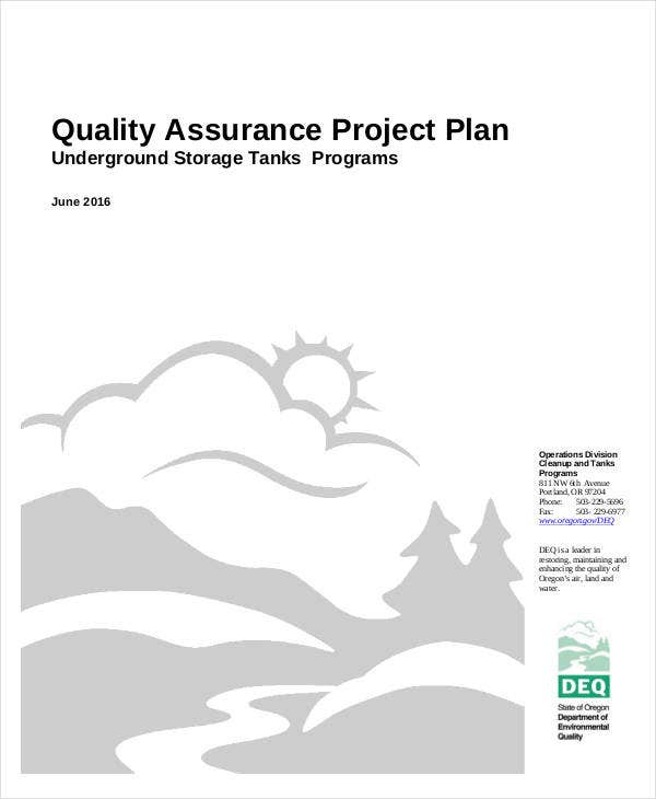hot quality assurance project plan
