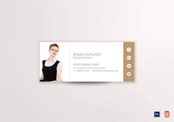 hr email signature template