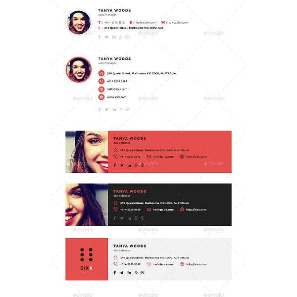 html marketing manager email signature templates