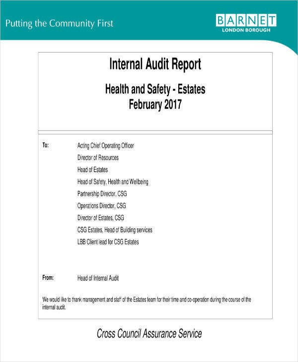 Health and Safety Internal Audit Report