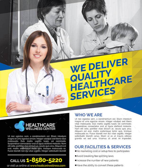Healthcare Wellness Canter Flyer Template