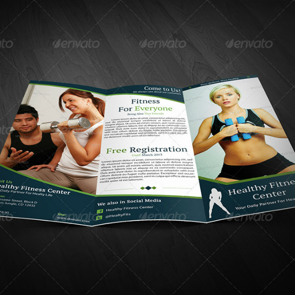 Healthy Fitness Center Brochure Template