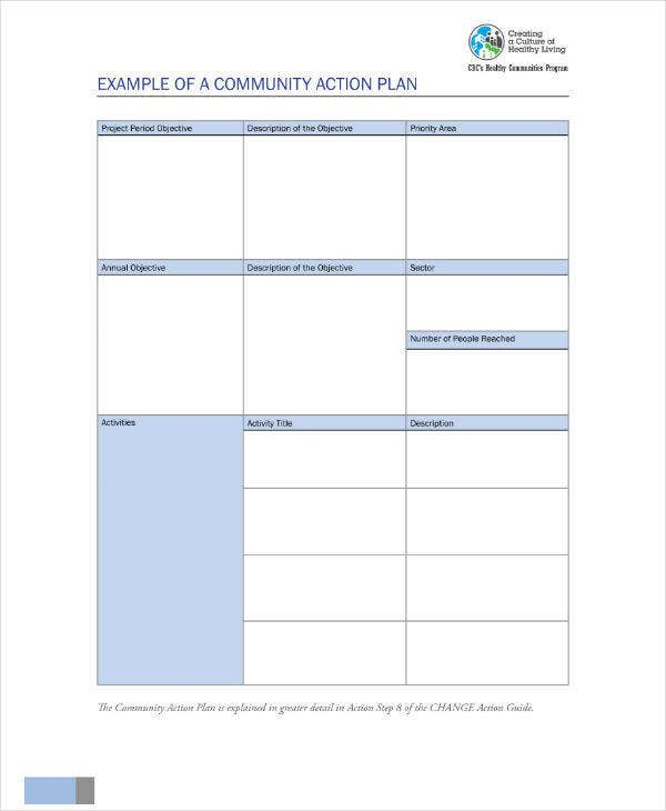 Healthy Leaving Community Action Plan
