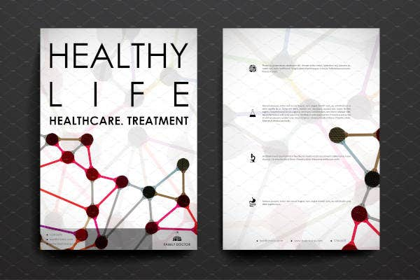 healthy life flyer template1