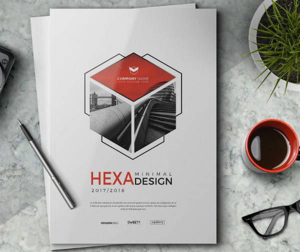 hexagon annual report cover design