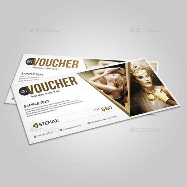 high fashion voucher coupon template