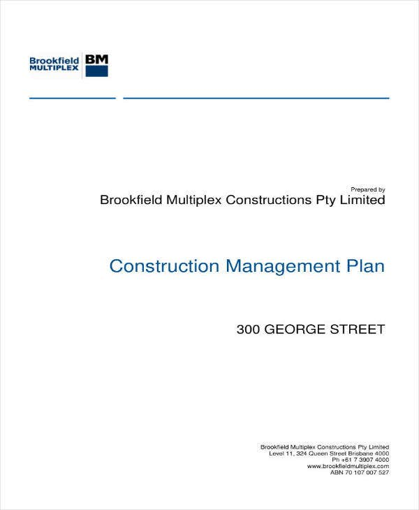 high level construction project plan