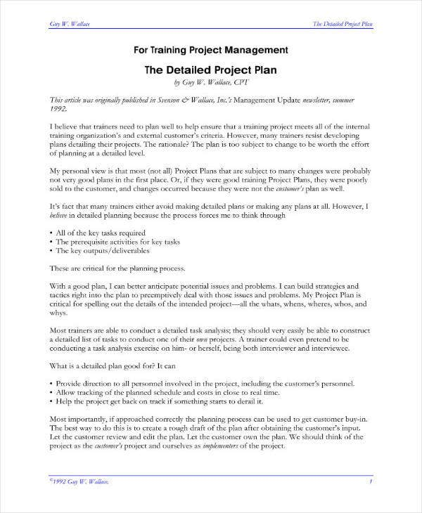 10 high level project plan templates pdf free premium templates