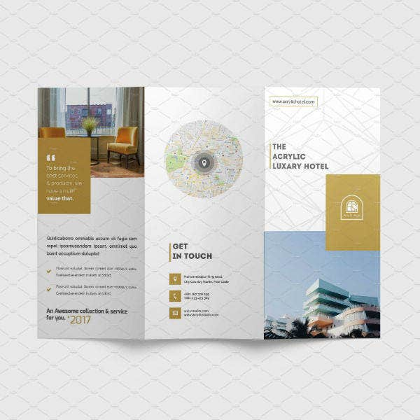 hotel resort stationary brochure template design1