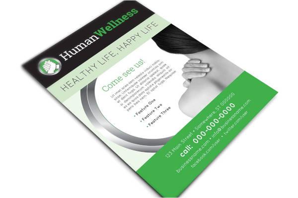 human wellness healthcare flyer template