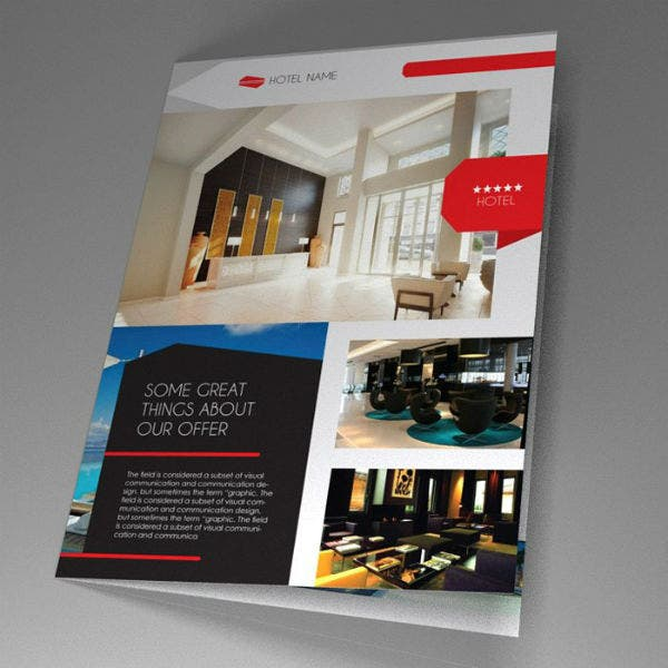indd hotel brochure template