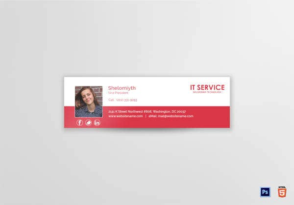 IT Services Email Signature Template