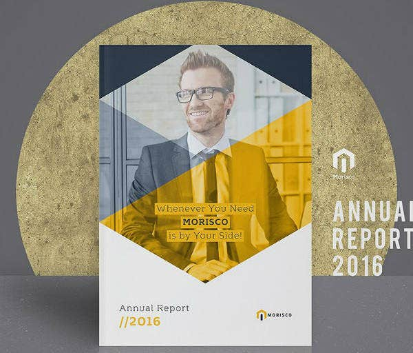 InDesign Annual Report Cover Template