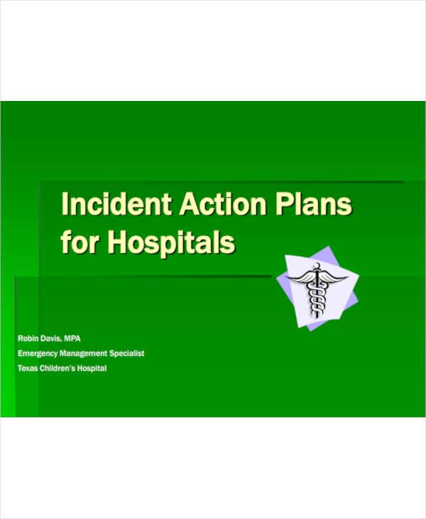 incident action plans for hospitals