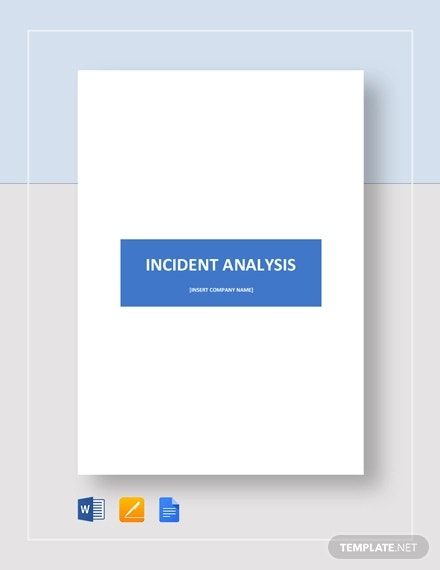 incident analysis template