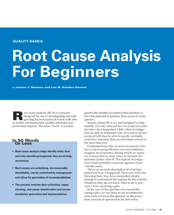 incident root cause analysis for beginners 1