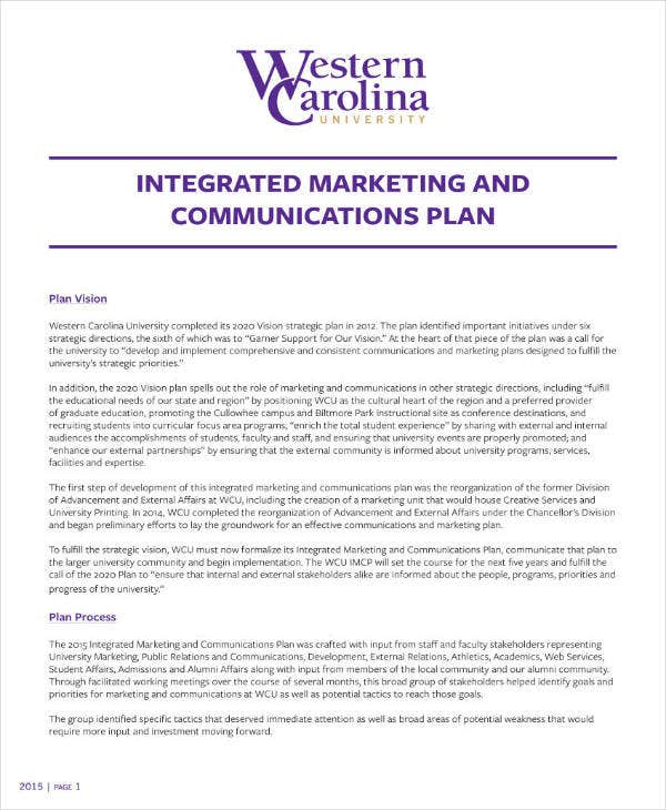 integrated marketing and sales plan