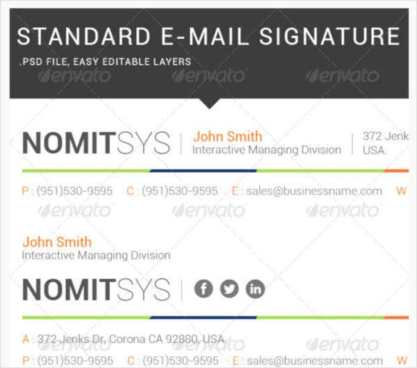 Interactive IT Email Signature Template