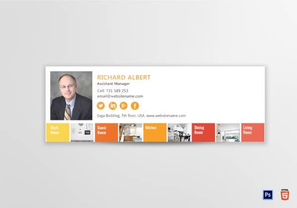 interior designer email signature example