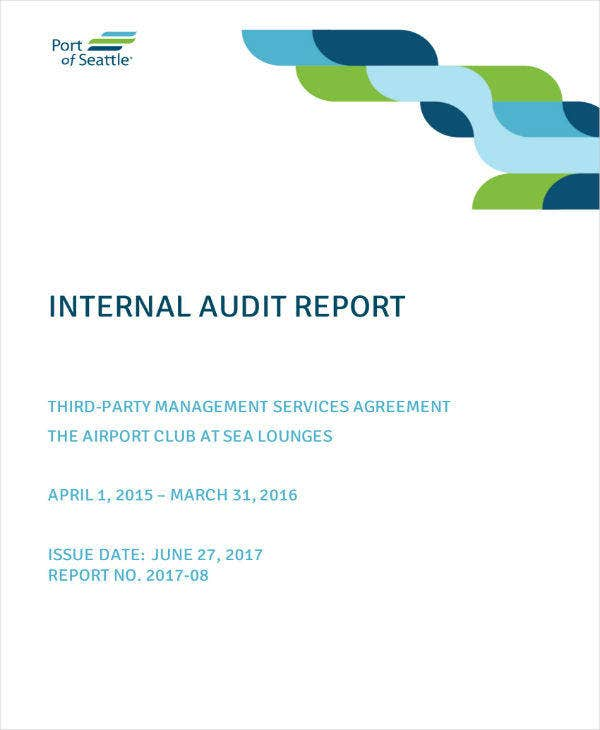 Internal Audit Report Example