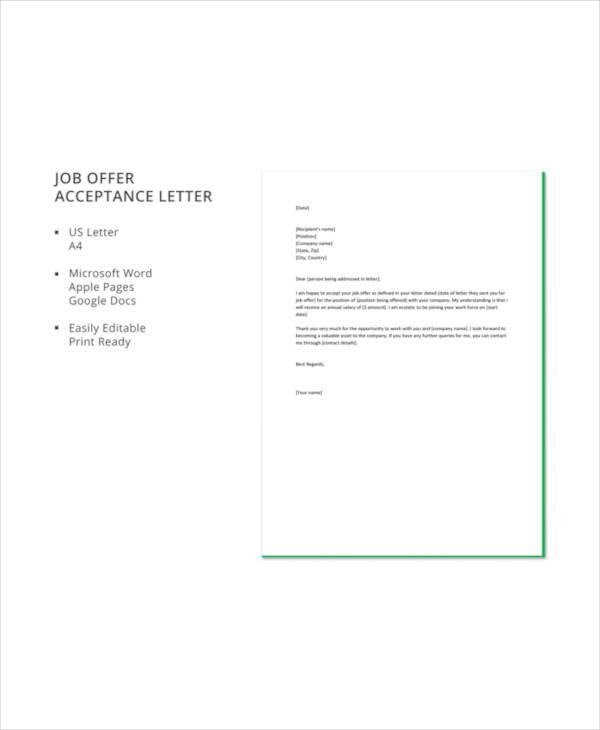 job offer acceptance letter template1