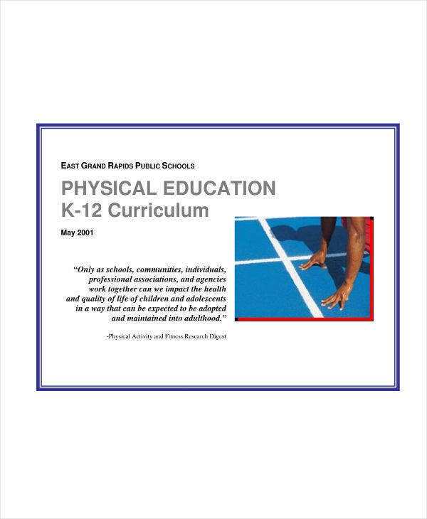 K-12 Physical Education Lesson Plan