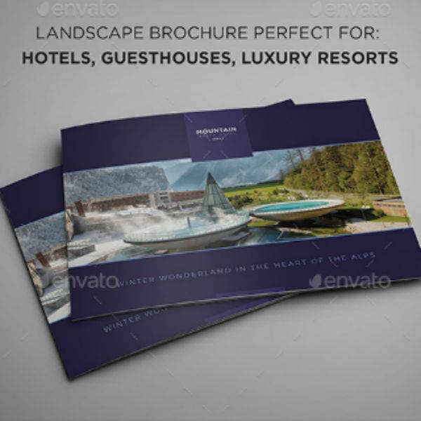 landscape ski resort hotel brochure template3
