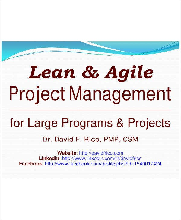 lean and agile project management plan sample1