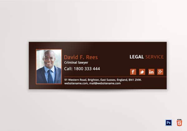 legal services email signature template1