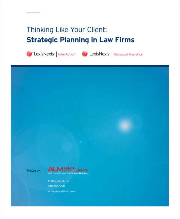 legal strategic plan in law firm