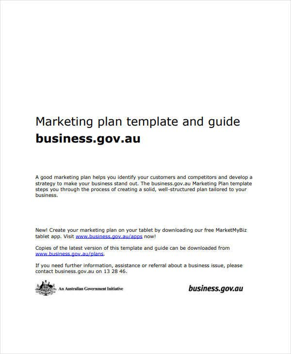 marketing business plan guide