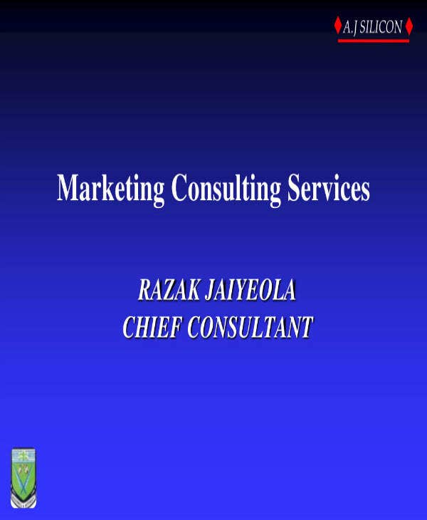 Marketing Consulting Services Business Plan