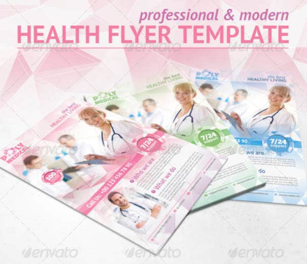 medical-health-polygonal-flyer-template
