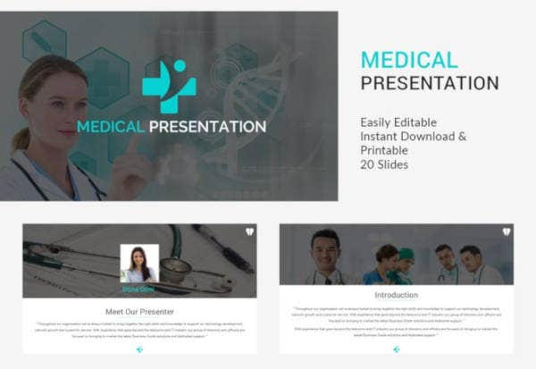 medical presentation template