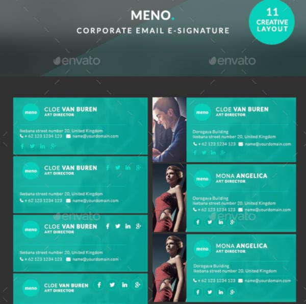 meno innovative email signature template