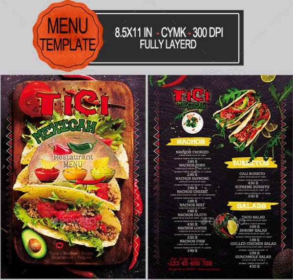 12 mexican restaurant menu designs templates psd ai free