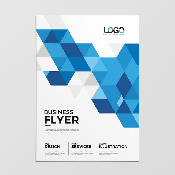 Minimal Abstract Polygonal Flyer Template