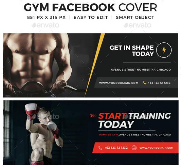 Minimal Theme Gym Cover Template